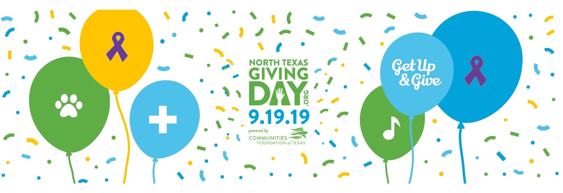 Get Up & Give on North Texas Giving Day - Sept 20, 2018