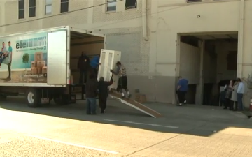 Element Moving & Storage delivers donated furniture for area shelters